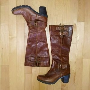 💕Born BOC Tall Brown Leather Boots